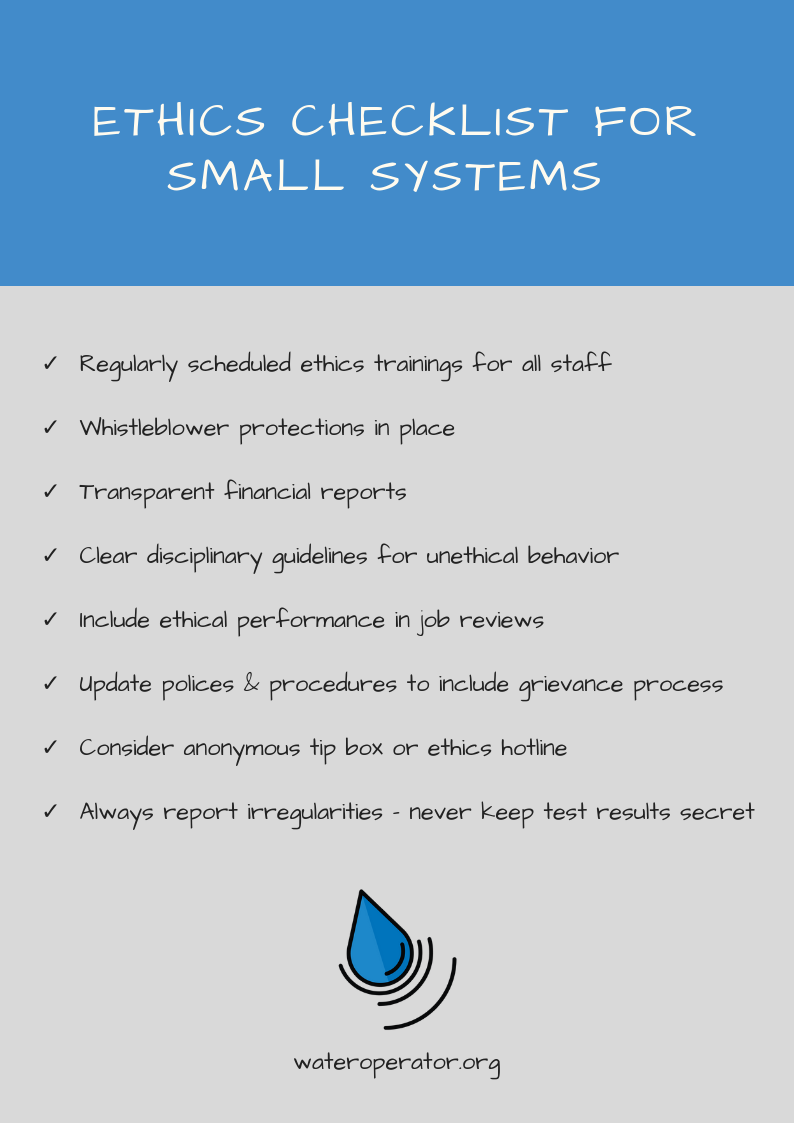 Ethics for Small Water Systems